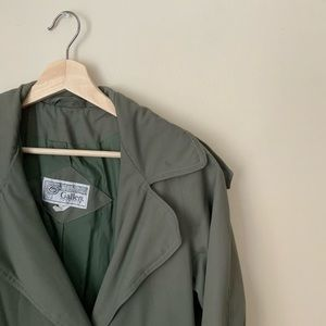 Vintage Petite Green Trench Coat